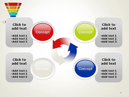 Conversion Funnel PowerPoint Template Slide 9