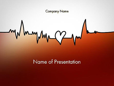 Love Heartbeat PowerPoint Template, 14094, Holiday/Special Occasion — PoweredTemplate.com