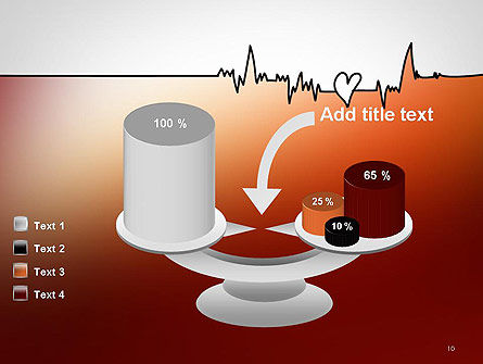 Love Heartbeat PowerPoint Template Slide 10