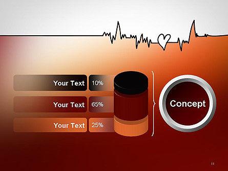 Love Heartbeat PowerPoint Template Slide 11