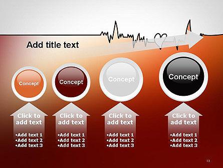 Love Heartbeat PowerPoint Template Slide 13