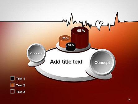 Love Heartbeat PowerPoint Template Slide 16