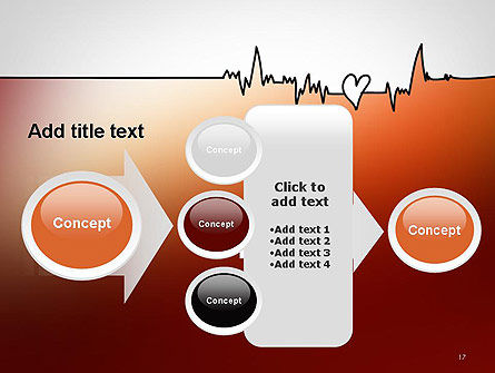 Love Heartbeat PowerPoint Template Slide 17