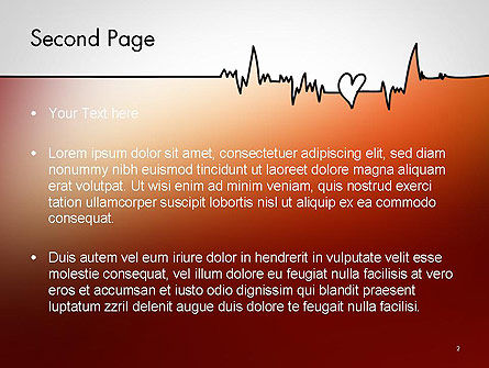 Love Heartbeat PowerPoint Template Slide 2