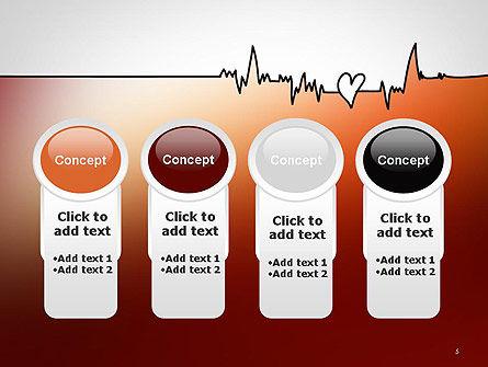 Love Heartbeat PowerPoint Template Slide 5