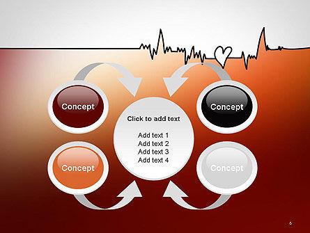 Love Heartbeat PowerPoint Template Slide 6