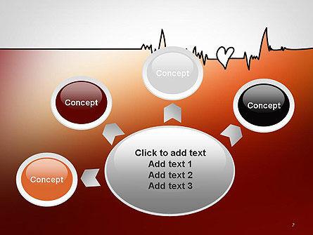 Love Heartbeat PowerPoint Template Slide 7