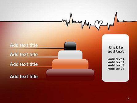 Love Heartbeat PowerPoint Template Slide 8