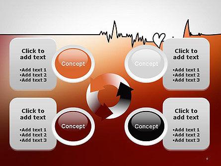 Love Heartbeat PowerPoint Template Slide 9