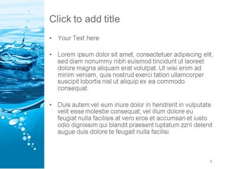 Water Splash PowerPoint Template, Slide 3, 14095, Nature & Environment — PoweredTemplate.com