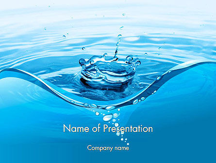 Water Splash PowerPoint Template, 14095, Nature & Environment — PoweredTemplate.com