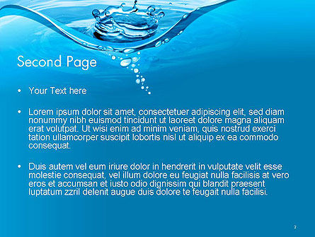 Water Splash PowerPoint Template, Slide 2, 14095, Nature & Environment — PoweredTemplate.com