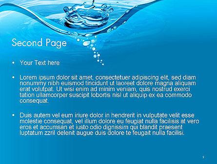 Water Splash PowerPoint Template, Slide 2, 14095, Nature & Environment — PoweredTemplate.com