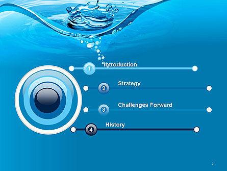 Water Splash PowerPoint Template, Slide 3, 14095, Nature & Environment — PoweredTemplate.com