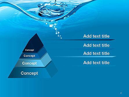 Water Splash PowerPoint Template, Slide 4, 14095, Nature & Environment — PoweredTemplate.com