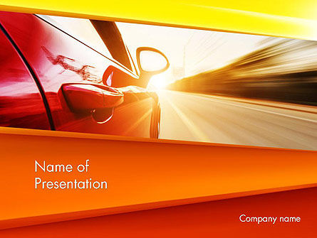 Cars and Transportation: High-Speed Car PowerPoint Template #14096