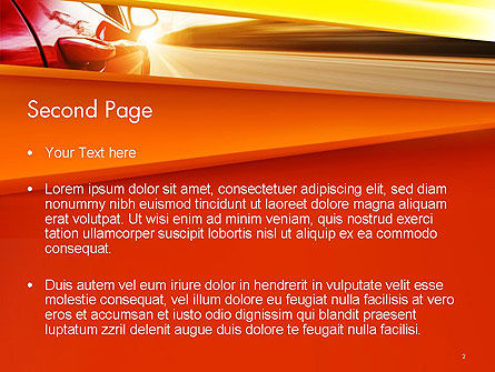 High-Speed Car PowerPoint Template Slide 2
