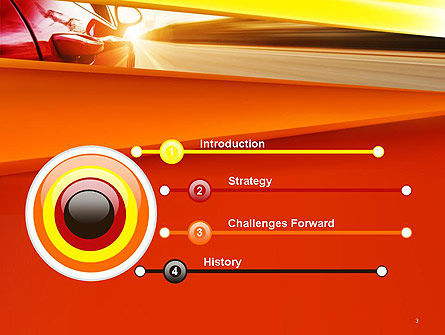 High-Speed Car PowerPoint Template Slide 3