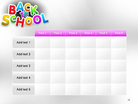 Welcome Back To School PowerPoint Template Slide 15
