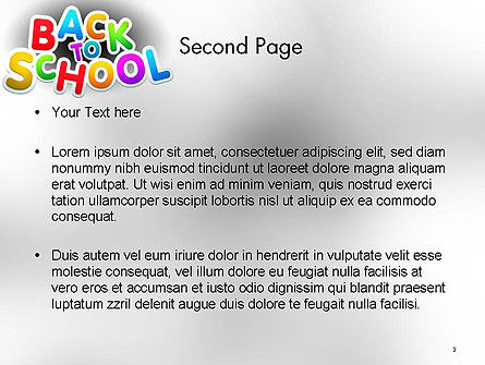 Welcome Back To School PowerPoint Template Slide 2