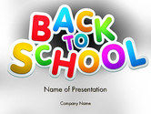 Education & Training: Welcome Back To School PowerPoint Template #14097