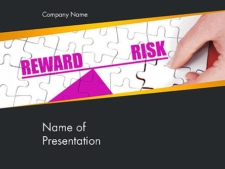 Risk vs Reward PowerPoint Template, 14098, Consulting — PoweredTemplate.com