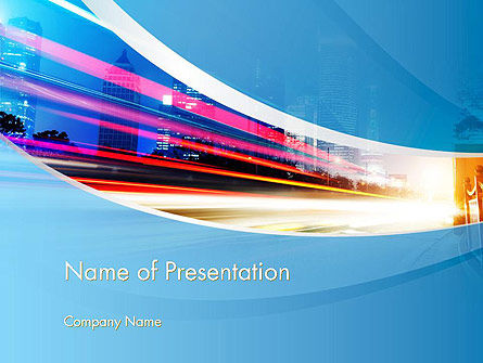 Big City High-speed Rhythm PowerPoint Template, 14099, Business — PoweredTemplate.com