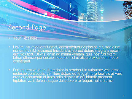 Big City High-speed Rhythm PowerPoint Template, Slide 2, 14099, Business — PoweredTemplate.com