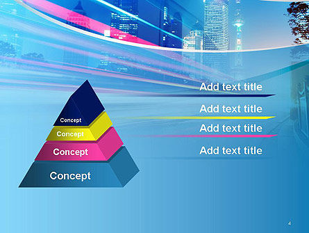 Big City High-speed Rhythm PowerPoint Template, Slide 4, 14099, Business — PoweredTemplate.com
