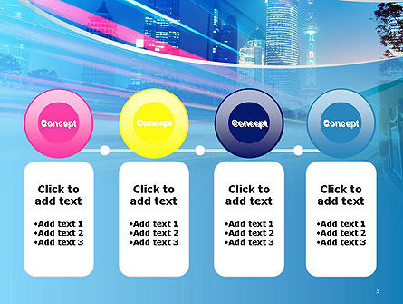 Big City High-speed Rhythm PowerPoint Template Slide 5