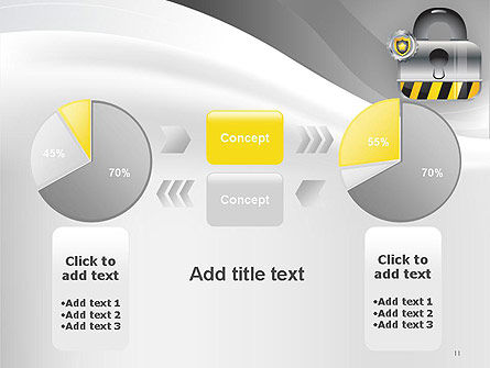 Secured and Locked PowerPoint Template Slide 11