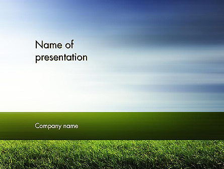 Grass and Sky PowerPoint Template, 14101, Nature & Environment — PoweredTemplate.com