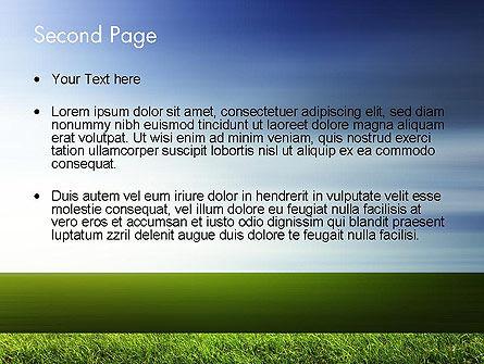 Grass and Sky PowerPoint Template, Slide 2, 14101, Nature & Environment — PoweredTemplate.com