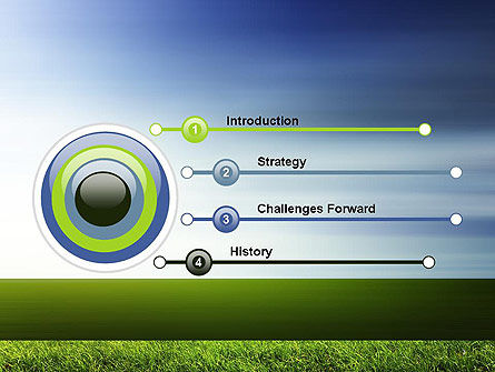 Grass and Sky PowerPoint Template, Slide 3, 14101, Nature & Environment — PoweredTemplate.com