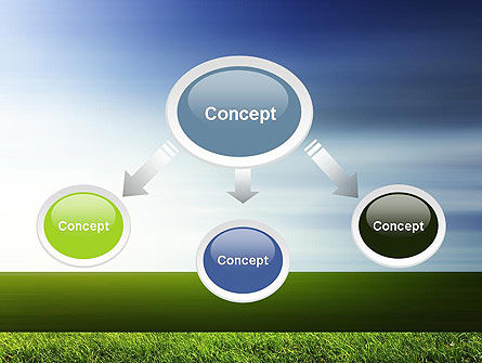 Grass and Sky PowerPoint Template, Slide 4, 14101, Nature & Environment — PoweredTemplate.com