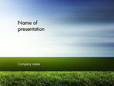 Nature & Environment: Grass and Sky PowerPoint Template #14101