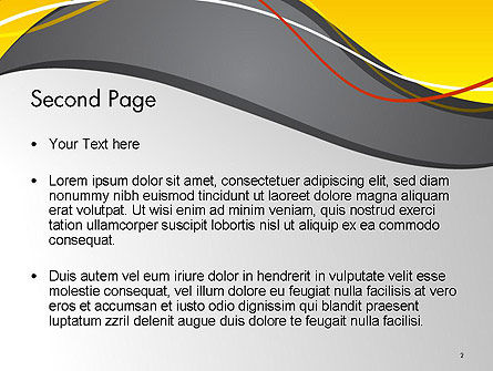 Windy Abstract PowerPoint Template Slide 2