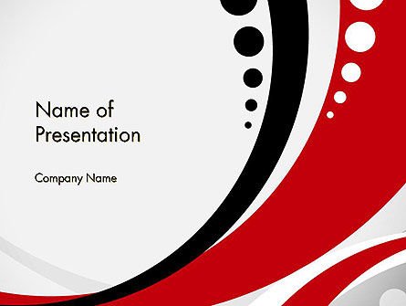 Red Black Wave Pattern PowerPoint Template