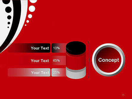 Red Black Wave Pattern PowerPoint Template Slide 11