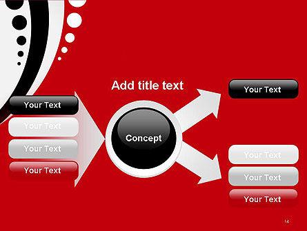 Red Black Wave Pattern PowerPoint Template Slide 14