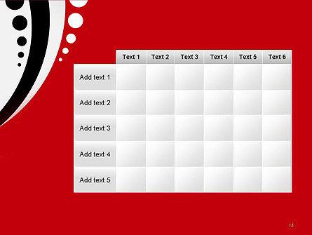 Red Black Wave Pattern PowerPoint Template Slide 15