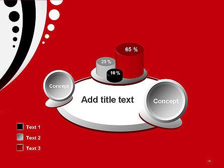 Red Black Wave Pattern PowerPoint Template Slide 16