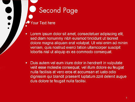 Red Black Wave Pattern PowerPoint Template Slide 2