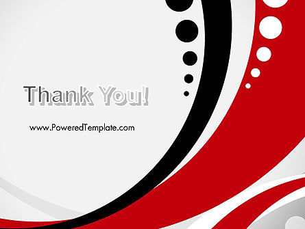 Red Black Wave Pattern PowerPoint Template Slide 20
