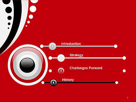 Red Black Wave Pattern PowerPoint Template Slide 3