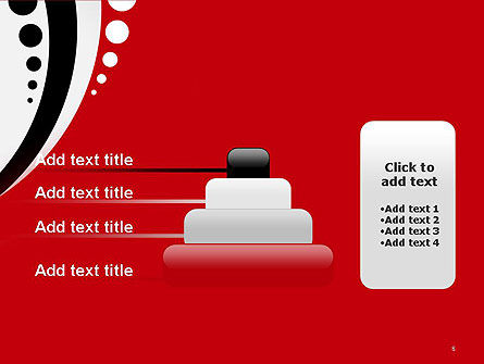 Red Black Wave Pattern PowerPoint Template Slide 8