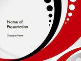 Abstract/Textures: Plantilla de PowerPoint - rojo negro onda patrón #14104