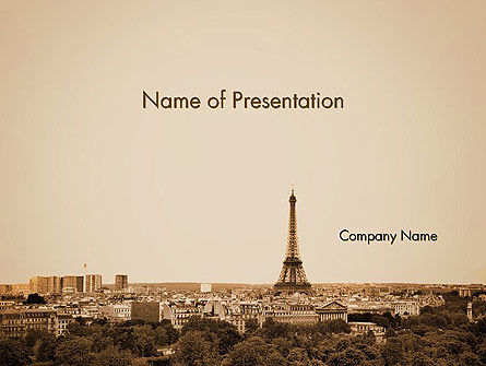 Destination France PowerPoint Template, 14105, Flags/International — PoweredTemplate.com