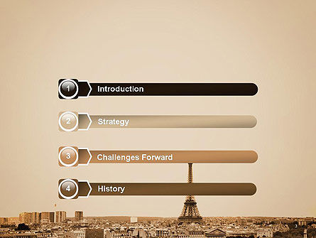 Destination France PowerPoint Template, Slide 3, 14105, Flags/International — PoweredTemplate.com