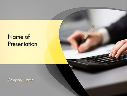 Bookkeeping and Accounting PowerPoint Template